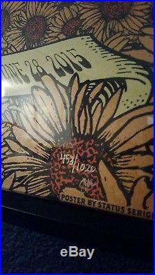 Grateful Dead 50th Anniversary Fare Thee Well Poster Justin Helton Matching #'s