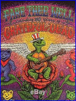 Grateful Dead 50th Chicago Poster Fare Thee Well Soldier Field Spusta Print Mint