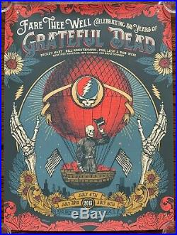Grateful Dead 50th Fare Thee Well Chicago Soldier Field Justin Helton Poster New