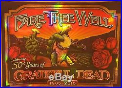 Grateful Dead 50th Terrapin Crate Poster Fare Thee Well Foil Print Gd50 Chicago