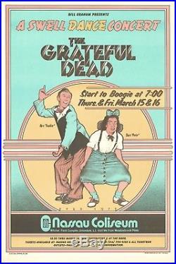 Grateful Dead A Swell Dance Vintage 1973 First Print Concert Poster