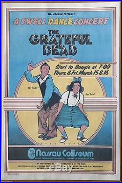 Grateful Dead A Swell Dance by David Byrd Rare Vintage Concert Poster 1973