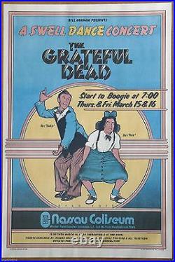 Grateful Dead A Swell Dance by David Byrd Vintage 1973 Concert Released Poster