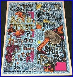 Grateful Dead Acid Test San Francisco Silkscreen Poster Print Norman Hartweg
