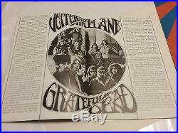 Grateful Dead Airplane Oct 70 Winterland Poster Nite Janis Died Vg Pinholes Vtg