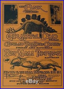 Grateful Dead And Big Mama Mae Thorton The Bank In Torrance CA CONCERT POSTER