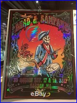 Grateful Dead And Company 11/17 Foil Poster Boston Ma Mike Dubois
