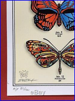 Grateful Dead And & Company Summer Tour Poster Emek Butterflies Vip 2019 Print