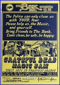 Grateful Dead And Magic Sam The Bank In Torrance CA ORIGINAL ROCK CONCERT POSTER