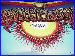 Grateful Dead Aoxomoxoa Poster Gdm Final Printing Signed Tom Constanten