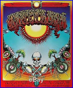 Grateful Dead Aoxomoxoa Rick Griffin Poster Numbered Edition AVALON BALLROOM BG