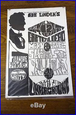 Grateful Dead Art of Rock 2.73 Abe Lincolns B-Day Fillmore Aud 2/12/1967 Poster