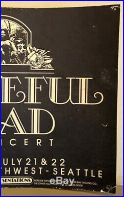 Grateful Dead At Paramount Nw Seattle Fillmore Bg Family Dog Era Poster