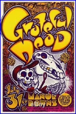 Grateful Dead Austin 1982 Original Concert Poster Manor Downs