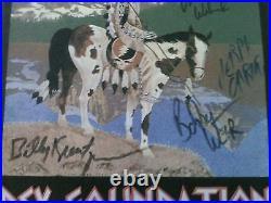 Grateful Dead Autographed Rex Bene Test Printing Concert Pelon From Band Ram Rod