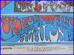 Grateful Dead Avalon Ballroom FD #26-3 SKULL and Roses POSTER