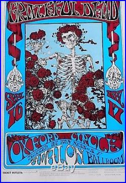 Grateful Dead Avalon Ballroom Stanley Mouse 1977 Reprint # 006 40 Years Old Rare