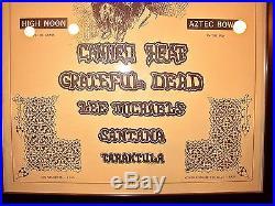 Grateful Dead Aztec Bowl Poster FD BG AOR