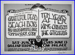 Grateful Dead Beach Boys Day on the Green # 1 Poster ORIGINAL Signed by Randy Tu