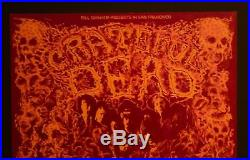 Grateful Dead Bg 162 Fillmore Poster Signed By Lee Conklin! Near Mint