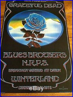Grateful Dead Blue Rose POSTER Mouse/Kelly Winterland NYE 78 BREAKFAST AT DAWN
