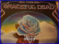 Grateful Dead Blue Rose Poster Winterland December 1978 Blues Bros & N. R. P. S