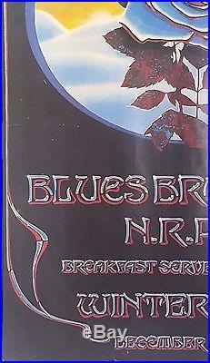 Grateful Dead & Blues Bros. Blue Rose Art by Mouse/Kelley Orig. 1978 Poster