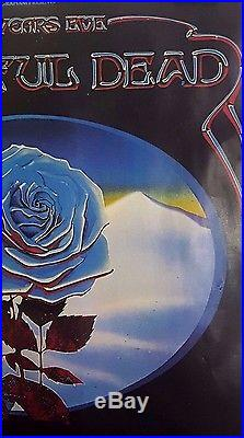 Grateful Dead & Blues Bros. Blue Rose Art by Mouse/Kelley Orig. 1978 Poster
