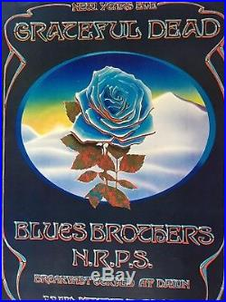 Grateful Dead Blues Brothers Blue Rose Closing Winterland Mouse/Kelley Poster 78