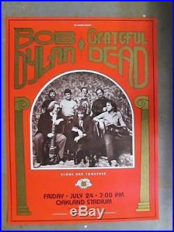 Grateful Dead Bob Dylan Oakland 1987 Day On The Green Concert Poster 2nd