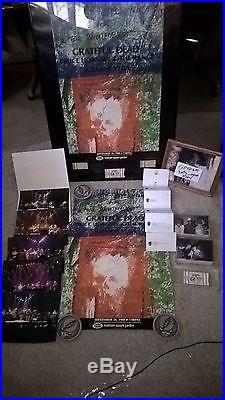 Grateful Dead Brent Mydland Autograph Rainforest Benefit Poster Billy Olatunji