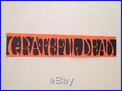 Grateful Dead Bumper Sticker 1967 Fan Club Issue