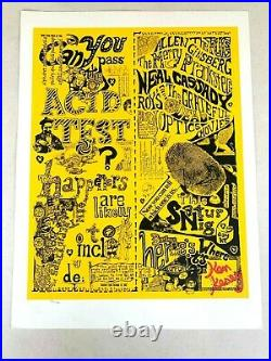 Grateful Dead Can You Pass The Acid Test Print Signed By Ken Kesey