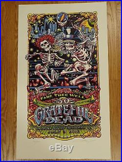 Grateful Dead Chicago 07/5 2015 AJ Masthay GD50 signed numbered phish print mint