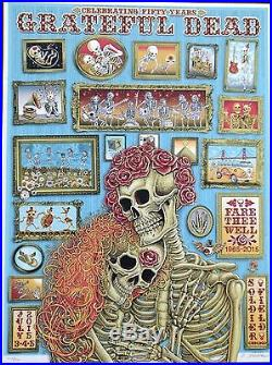 Grateful Dead Chicago 2015 EMEK poster Fare Thee Well 104/150 GD50