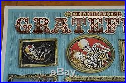Grateful Dead Chicago 2015 EMEK poster Fare Thee Well 87/150 GD50