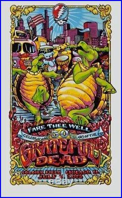 Grateful Dead Chicago Poster Print AJ Masthay 7/3/15 Gd50 Fare Thee Well