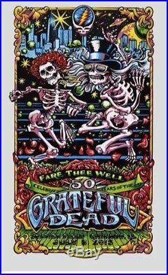 Grateful Dead Chicago Poster Print AJ Masthay 7/5/15 Gd50 Fare Thee Well