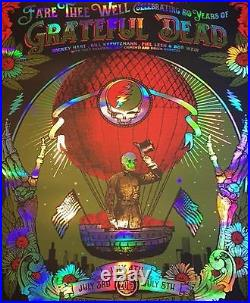 Grateful Dead Chicago Poster Print GD 50 Fare Thee Well Numbered #/2000 Foil