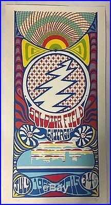 Grateful Dead Chicago Poster Print Tripp Trip 7/3 4 5/15 Gd50 Fare Thee Well