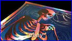 Grateful Dead Chicago Print Poster GD 50 Fare Thee Well Signed & Numbered Foil