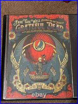 Grateful Dead Chicago Status Serigraph Helton Poster Print Fare Thee Well