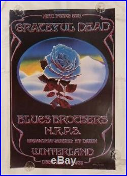 Grateful Dead Closing of Winterland Graham Mouse Poster 18 3/4 x 28 1/4