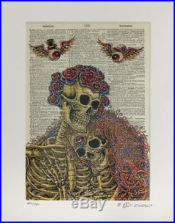 Grateful Dead Company Dictionary Couple Emek Blue Edition Poster Fare Thee Well