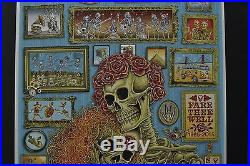 Grateful Dead & Company Emek poster Chicago Fare Thee Well VIP Screenprint GD50
