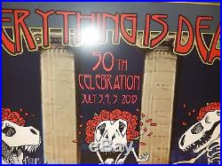Grateful Dead Company Poster Art Signed #/100 STANLEY MOUSE FTW GD50 WEir Mayer