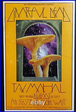 Grateful Dead Concert Poster 1970 Taj Mahal Fillmore