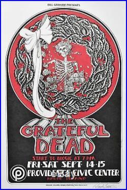Grateful Dead Concert Poster 1973 Signed by Randy Tuten