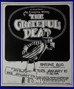Grateful Dead Concert Poster 1977 Shrine Randy Tuten Signed