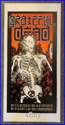 Grateful Dead Concert Poster 1995 Spring Tour Alton Kelley